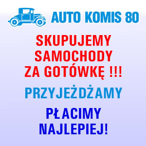 auto komi 80 - reklama skupu samochodów za gotówkę